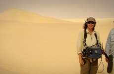 After a long day filming in the Libyan desert heat