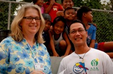 "Amanda filming ""Operation Restore Hope"" in Manila with Hector Gonzales"