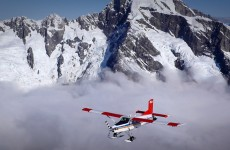 Aerial filming over Mt Cook