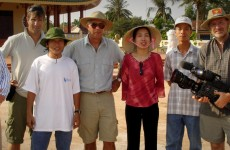 Filming near Saigon, Vietnam